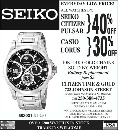 Casio, Lorus 30% off